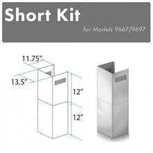 See Details - ZLINE 2-12 in. Short Chimney Pieces for 8 ft. Ceilings (SK-9667/9697)