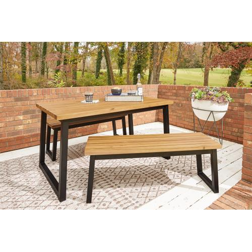 Town Wood Outdoor Dining Table Set (set of 3)
