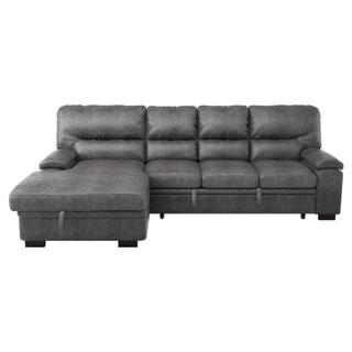 Michigan Sectional Left w Pull-out Bed & Storage