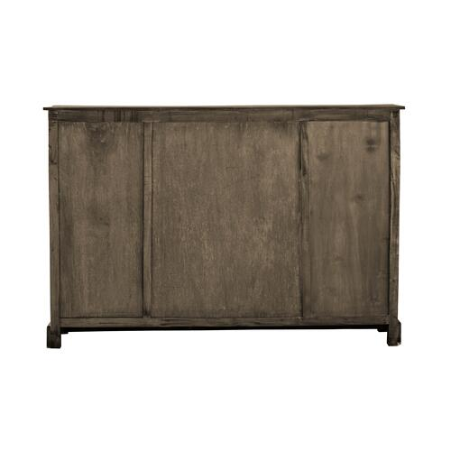 Sideboard w/Glass Front - Distressed Brown and Raftwood