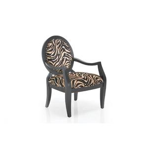 Paris Zebra Fabric Arm Chair