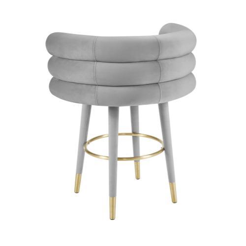 Tov Furniture - Betty Grey Velvet Counter Stool