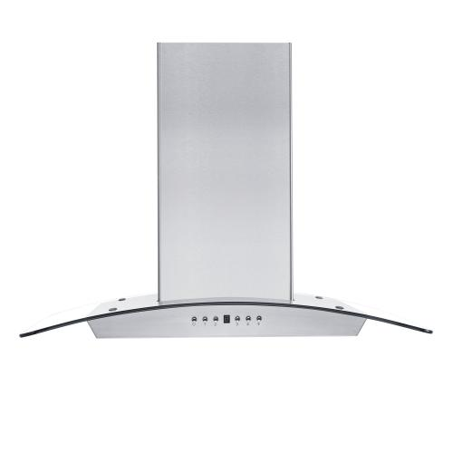 ZLINE Convertible Vent Wall Mount Range Hood in Stainless Steel & Glass (KZ) [Size: 36 inch]