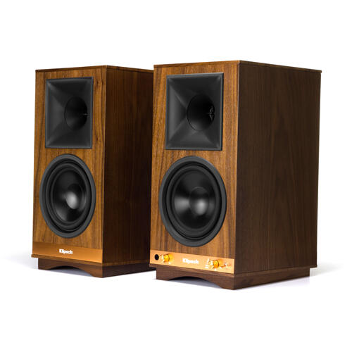 Klipsch - The Sixes POWERED SPEAKERS - Walnut