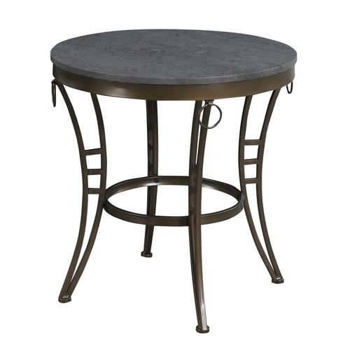 Emmerson Round End Table, Cathedral Gray T229-01