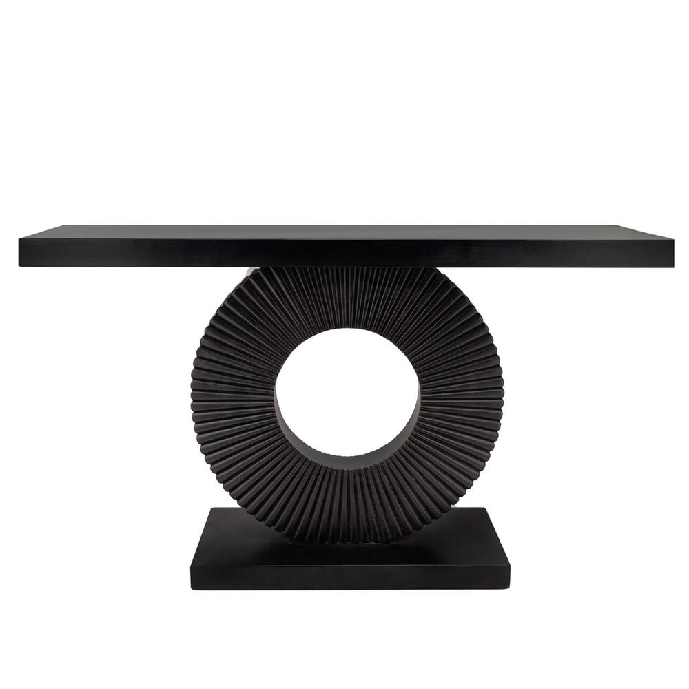 """51"""" Console Table On A Ring Stand, Black"""