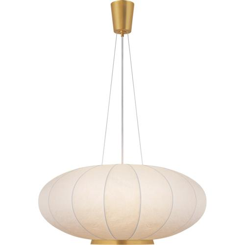 Visual Comfort BBL5123SB-RP Barbara Barry Moon 1 Light 36 inch Soft Brass Hanging Shade Ceiling Light, Large