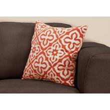 "PILLOW - 18""X 18"" / ORANGE MOTIF DESIGN / 1PC"