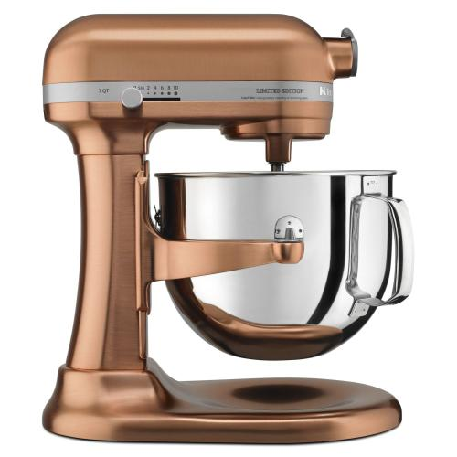Gallery - Limited Edition Pro Line® Series Copper Clad 7 Quart Bowl-Lift Stand Mixer - Satin Copper