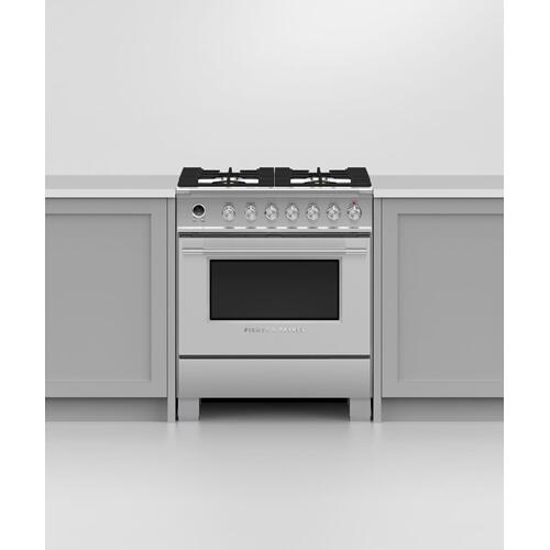 "Dual Fuel Range, 30"", 4 Burners, Self-cleaning"