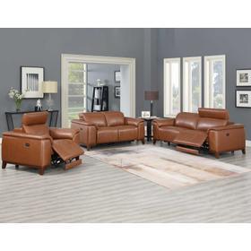 Bergamo 3- Piece Dual-Power Leather Reclining Set (Sofa, Loveseat & Chair)