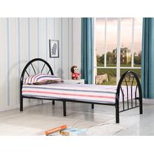 Blanca Twin Size (White, Red, Pink, Blue) Metal Bed, Blue