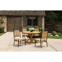 """See Details - Teak 48"""" Round Cross Base Dining Table"""