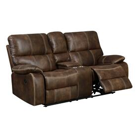 Jessie James Power Console Loveseat Brown