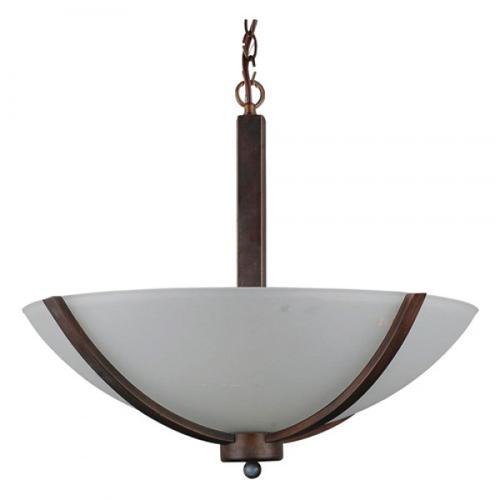 Alta Peak Collection Three Light Bowl Chandelier