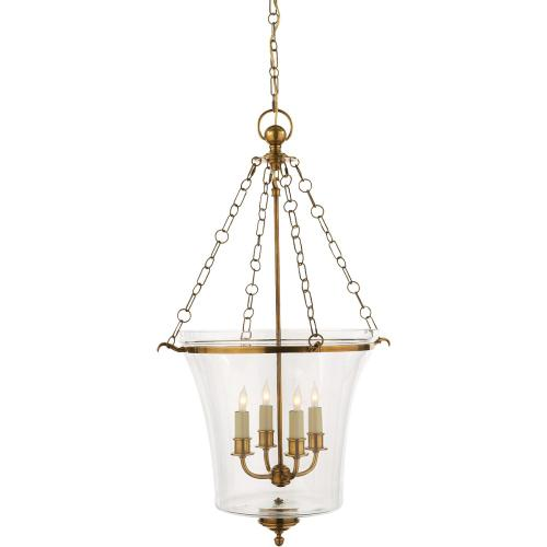 Visual Comfort CHC2210AB E. F. Chapman Sussex 4 Light 19 inch Antique-Burnished Brass Foyer Pendant Ceiling Light