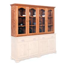 "Classic Closed Hutch Top, 75 1/2"", Antique Glass"