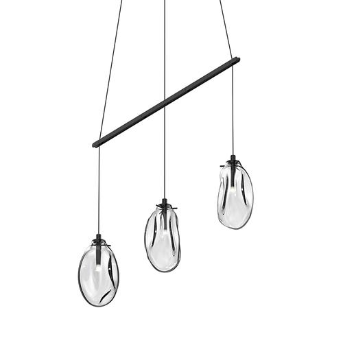 Liquid 3-Light Linear Spreader LED Pendant