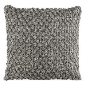 Janan Knit Pillow - Dark Grey / Natural