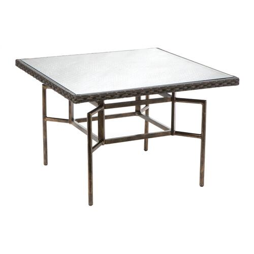 "Lexington 44"" Square Dining Table w/ umbrella hole"