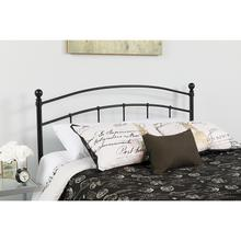 Woodstock Decorative Black Metal Queen Size Headboard
