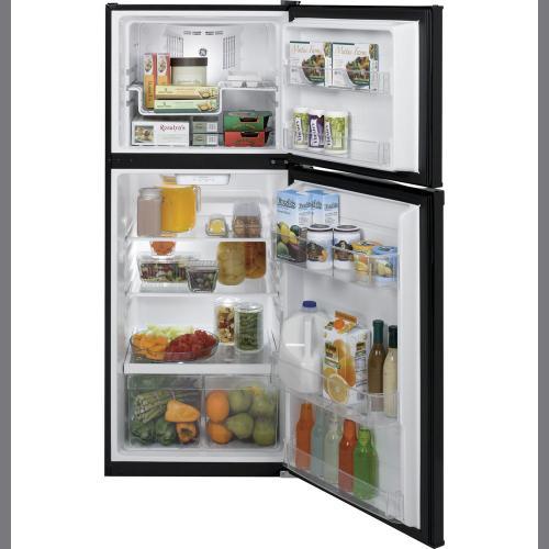 GE 11.55 cu.ft. Top Freezer Refrigerator Black GPE12FGKBB