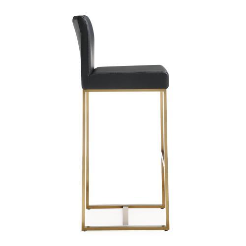 Tov Furniture - Denmark Black Gold Steel Barstool (Set of 2)