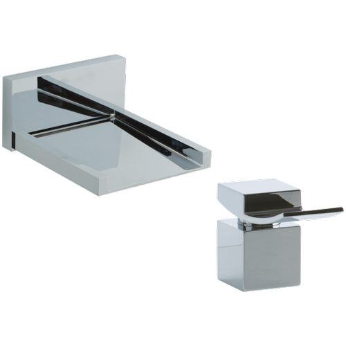 Quarto In Wall Open Chute Tub Filler with Deck Mount Lever Control