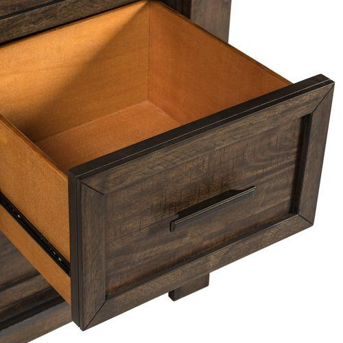 Queen Two Sided Storage Bed, Dresser & Mirror, Night Stand