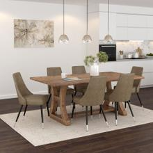 Aspen/Silvano 7pc Dining Set, Vintage Pine/Vintage Brown