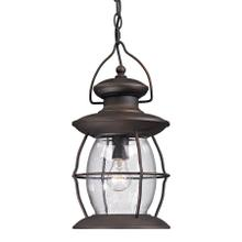 View Product - Village Lantern 1-Light Outdoor Hanging Lantern in Weathered Charcoal