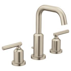 Gibson brushed nickel two-handle bathroom faucet