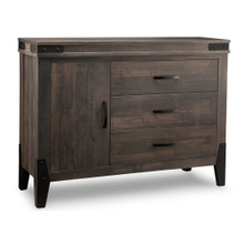 Chattanooga Sideboard w/1 Wood Door on Left & 3/Dwrs & 1/Wood Adjust.