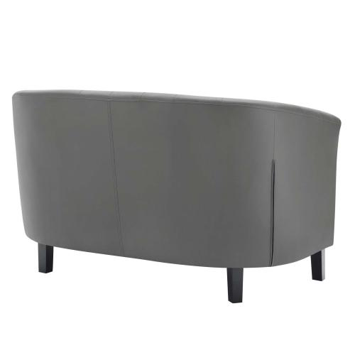Modway - Prospect Upholstered Vinyl Loveseat in Gray