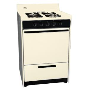"""Bisque Gas Range In Slim 24"""" Width With Electronic Ignition and Sealed Gas Burners; Replaces Stm6107f"""