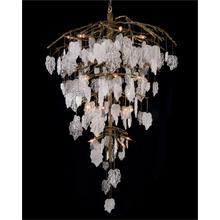 See Details - Sugar Leaf: Glass Leaf Twenty-Six-Light Chandelier
