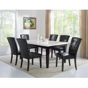 Francis 7 Piece Marble Top Dining(Table & 6 Side Chairs)