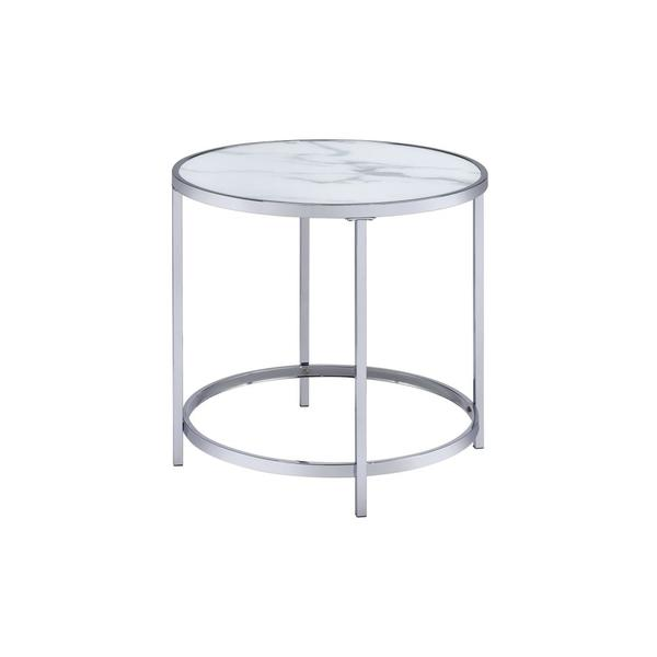 See Details - Rayne End Table, White