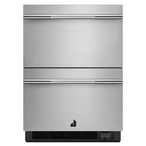 "NOIR 24"" Double Drawer Refrigerator/Freezer"