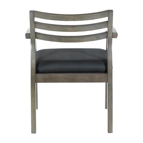 Napa Slate Grey Chair With Wood Back & Black Fabric Seat
