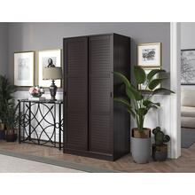 5666 - 100% Solid Wood 2-Sliding Door Wardrobe - Java