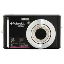 Polaroid 16-Megapixel Ultra Slim 12x Enhanced Optical Zoom Digital Camera with 2.4-Inch LCD Screen, iS326-Blk