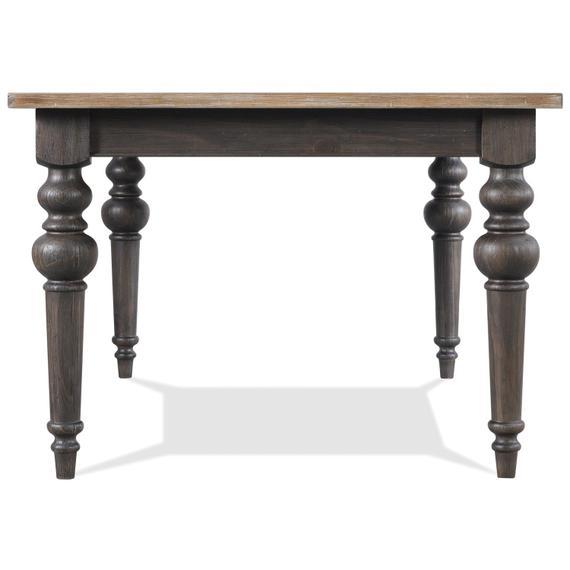Riverside - Harper - Rectangular Dining Table - Snowy Desert/matte Black Finish