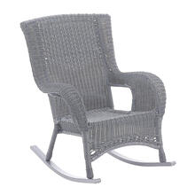 San Tropez Resin Wicker/ Aluminum Rocking Chair - Weathered Gray
