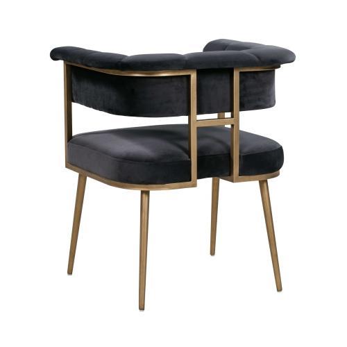 Astrid Grey Velvet Chair