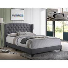 Rosemary Full Platform Bed Grey