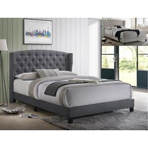 Rosemary Queen Platform Bed Grey