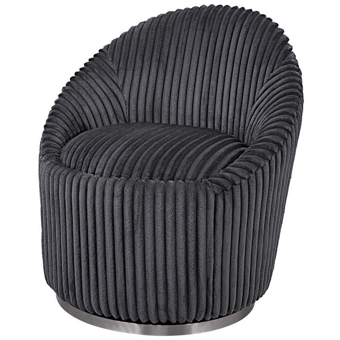 Uttermost - Crue Swivel Chair, Gunmetal