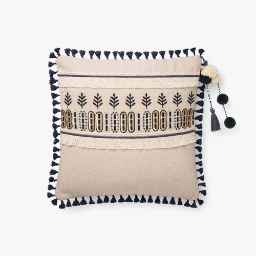 P0779 Natural / Blue Pillow