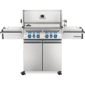 Prestige PRO 500 RSIB with Infrared Side and Rear Burners , Stainless Steel , Propane